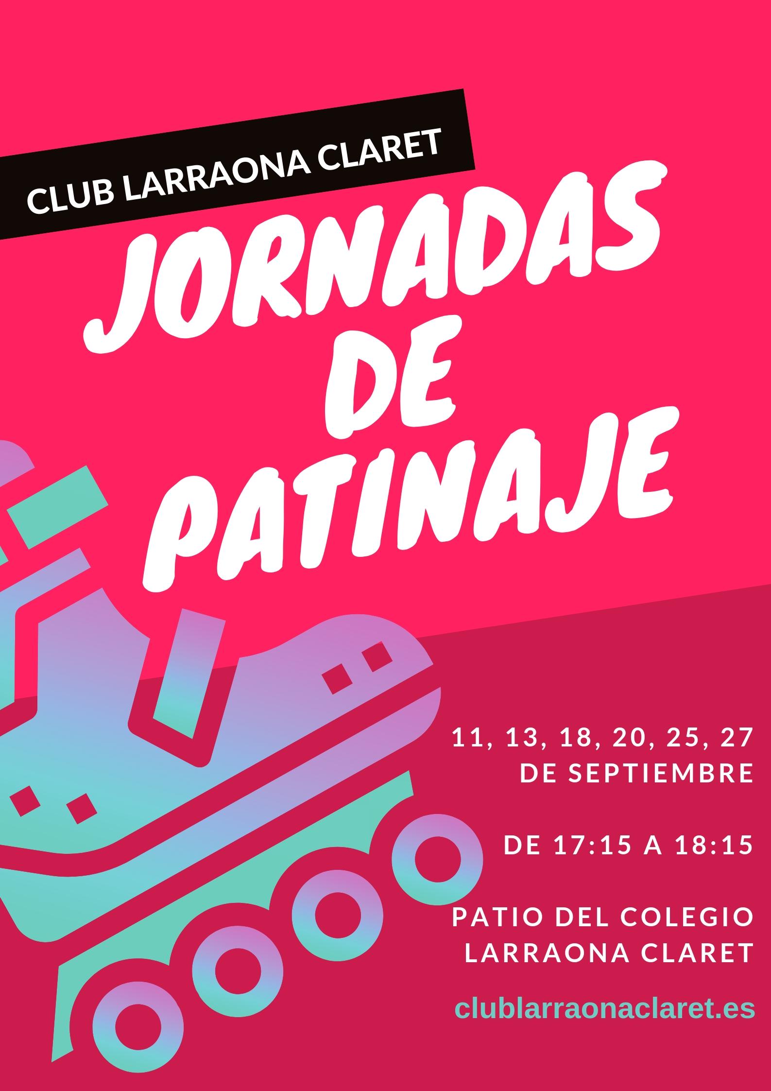 Jornadas patinaje club larraona septiembre